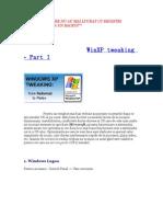 WinXP Tweaking-part I