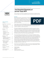Five Essential Elements of Carrier Class NTP