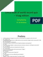 Limca book of world record quiz – Vizag