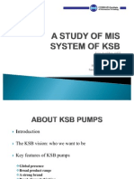 A Study of Mis System of Ksb