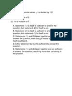 GMAT Practice Set 7 - Quant
