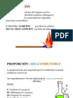 Presentación de la combustión