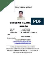 Curriculum Vitae Ruben Esteban Huamani