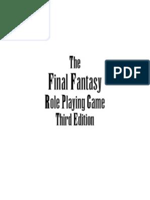 Final Fantasy RPG Third Edition Core Rulebook   Final