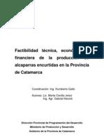Factibilidad Tecnica y Economica de La Produccion de Alcaparras