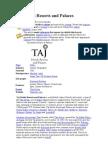 Taj Hotels Resorts and Palaces