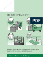 Decreto 594 Condiciones sanitarias y ambientales básicas en los lugares de trabajo