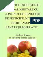 Poluare Alimente Pesticide Nitrati