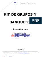 Kit Grupos y Banquetes 2011