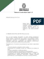 Projeto de Lei 477/10 do Vereador Roberto Tripoli - São Paulo