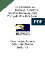 Analisis Kebijakan Luar Negeri Indonesia