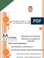 Formation HTML5 CSS3 par Mistra Formation
