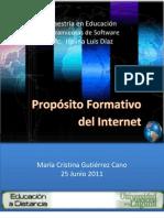 Proposito Formativo Del Internet