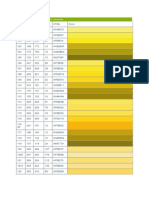 Pantone Chart With RGB and HTML Conversions