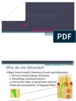 Obturation of the Root Canal System_Part I [Lecture by Dr.Ahmed Labib @AmCoFam]