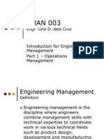 EMAN 003 Part 1 Operations Management