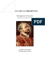 Loyola - Carta de La Obediencia