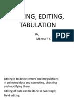 Coding Editing & Tabulation