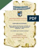 Base Legal de Los Procesos Formales Del Siaf