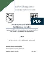 Inconmensurablidad en las Ciencias Sociales, aplicación de la visión estructuralista de las teorías científicas a un caso de la sociología de las organizaciones