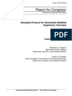 Biosafety Protocol for Genetically Modified Organisms (GMO)