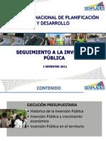 Inversion Publica Informe Semestral 2011