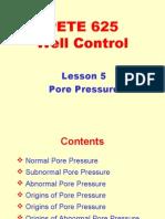 5. Pore Pressure