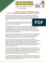 SED-MT - Conferência da OIT adota normas do trabalho para proteger entre 53 e 100 milhões de trabalhadores domésticos no mundo
