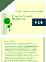Manifesto Do Verde - Amarelismo SEMINARIO