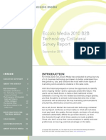 2010 B2B Technology Collateral Survey Report by Eccolo Media