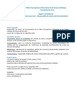 Fiche Poste Resp on Sable CDF - FESP