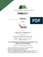 Haberman - Thesis - Universite Paul Verlaine - 14 Avril 2006