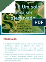 Brasil Um Solo Para Ser Preservado
