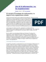 Las tecnologías de la información y su impacto en las organizaciones