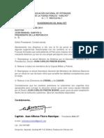 SUGERENCIAS DE ANALVET