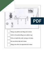 Español - Seguimiento de instrucciones