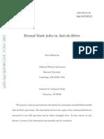 Maldacena - Eternal Black Holes in AdS