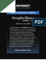 Strengths Mastery April 2011 Kinkos