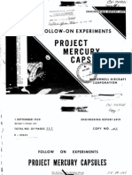 Follow on Experiments Project Mercury Capsules