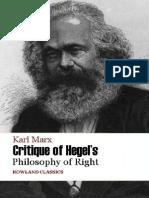 Karl Marx Critique of Hegel's PhR