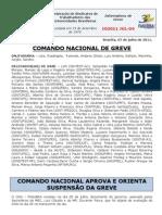 Informe do Comando Nacional de Greve (7.jul.2011) --o 4º editado em julho
