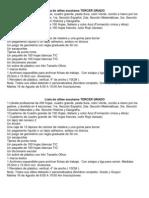 Lista de Utiles Escolares Tercer Grado