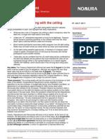 Nomura Debt Ceiling 2011-07-07