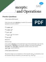 Free SAT Math Questions - Math Concepts Practice Questions