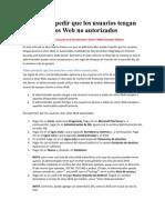 Impedir Acceso a Sitios Web No Autorizados