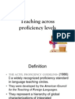 Teaching Across Proficiency Levels