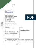 Ferring v. Watson Pharmaceuticals et. al.