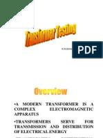 Transformer Testing Notes