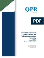 RevenueAssuranceScorecardForTheTelecommunicationIndustry[1]