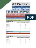 GPA/CGPA/Grades Calculator
